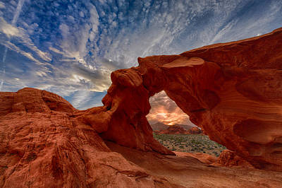 Sunset In The Valley Of Fire Poster