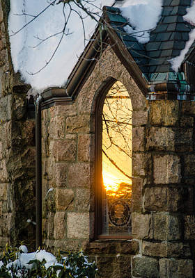 Sunset In The Window Poster