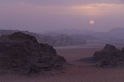 Sunset In Wadi Rum Jordan Poster