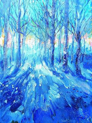 Sunset In A Winter Wood  Poster by Trudi Doyle