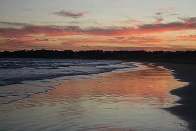 Poster featuring the photograph Sunset Kissing Shore II by Amanda Holmes Tzafrir