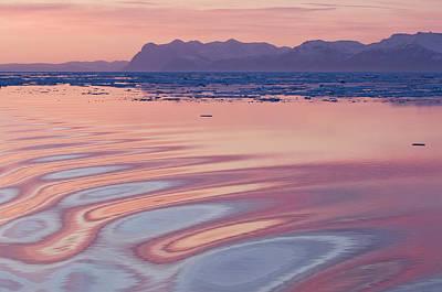 Sunset, Kong Oscar Fjord, East Coast Poster