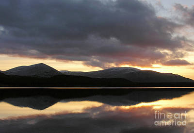 Sunset - Loch Morlich - Scotland Poster