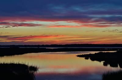 Sunset Marsh Poster