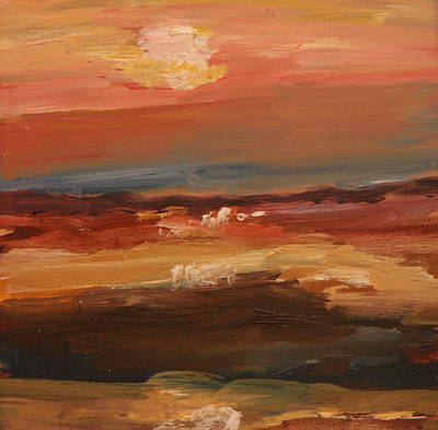 Poster featuring the painting Sunset by Michael Helfen