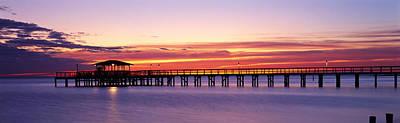 Sunset Mobile Pier Al Usa Poster