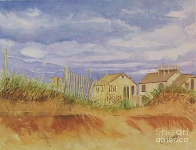 Sunset Nantucket Beach Poster by Carol Flagg