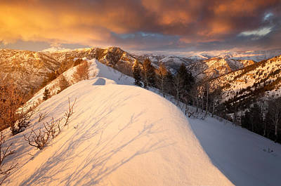 Sunset Near Snowbasin Poster by Rory Wallwork