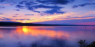 Sunset On Cayuga Lake Iv Ithaca New York Poster by Paul Ge