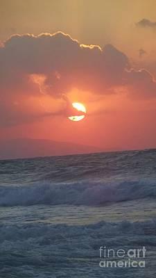 Sunset On Crete Poster