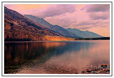 Sunset On Jenny Lake Poster