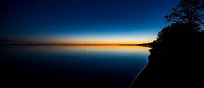 Sunset On Lake Milacs Poster by Paul Freidlund