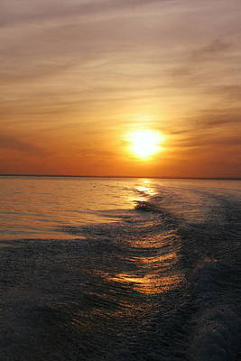 Poster featuring the photograph Sunset On Long Island Sound by Karen Silvestri