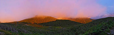 Sunset On Mount Lafayette Poster