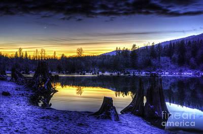 Sunset On Rattlesnake Lake Poster by Brian Xavier