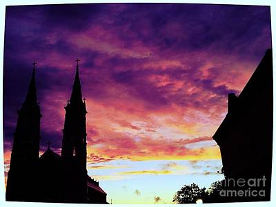 Sunset On The Basilica  Poster