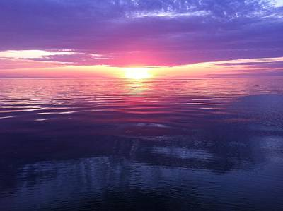 Poster featuring the photograph Sunset On The Bay by Tiffany Erdman