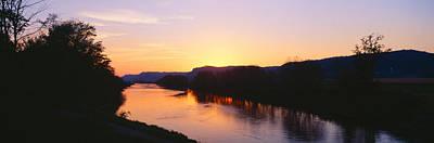 Sunset On Upper Iowa River, Northeast Poster