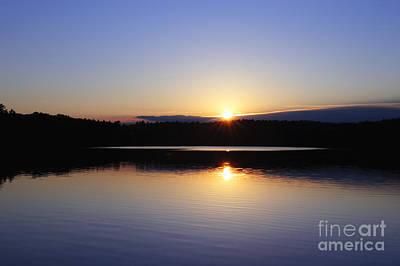 Sunset On Walden Pond Poster
