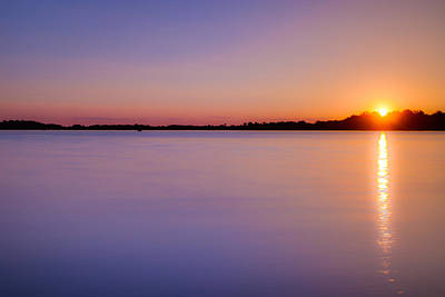 Sunset On White Bear Lake Poster