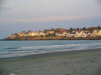 Sunset On York Beach Poster