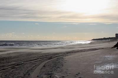 Sunset Over Atlantic Ocean In Montauk Poster