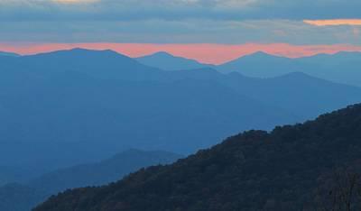 Sunset Over Blue Ridge Poster
