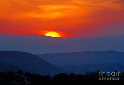 Sunset Over California Poster