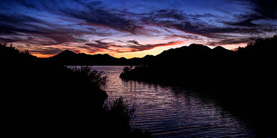 Sunset Over Desert Waters Poster by Anthony Citro