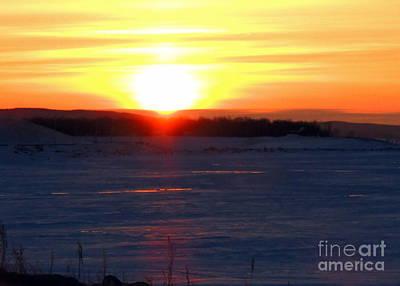 Sunset Over Devils Lake Poster
