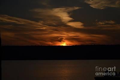 Sunset Over Door County  Poster