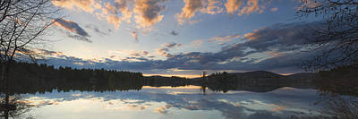 Sunset Over Flying Pond In Vienna Maine Poster
