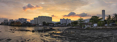 Sunset Over Georgetown Penang Malaysia Poster