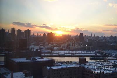 Sunset Over Harlem Poster by Robert Daniels
