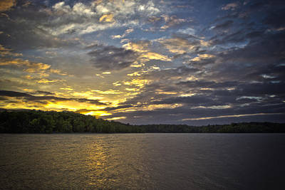 Poster featuring the photograph Sunset Over Kerr Lake by Ben Shields