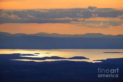 Sunset Over Lake Champlain Poster