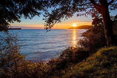 Sunset Over Lighthouse Park Poster