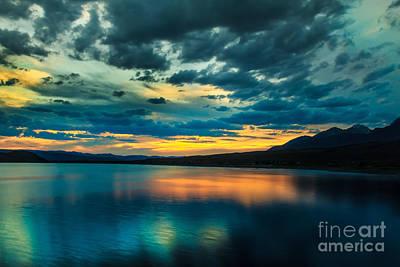 Sunset Over Mackay Reservoir Poster