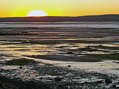 Sunset Over Minas Basin In Fundy Bay Near Grand Pre-ns Poster by Ruth Hager