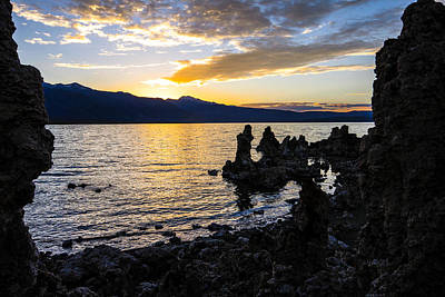 Sunset Over Mono Lake Poster