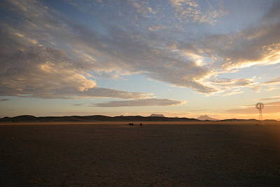 Poster featuring the photograph Sunset Over Namibia by Riana Van Staden