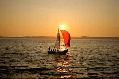 Sunset Over Narragansett Bay Poster