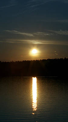 Sunset Over Pickerel River Sun 91 Poster by G L Sarti