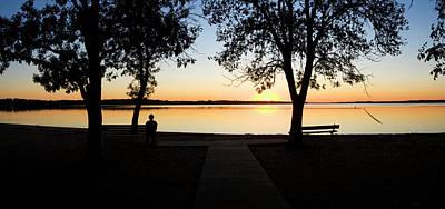 Sunset Over Pomona Reservoir At Pomona Poster