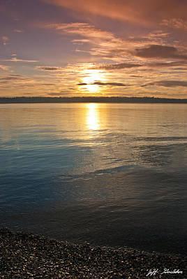 Sunset Over Puget Sound Poster