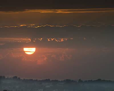 Sunset Over Rochester Poster