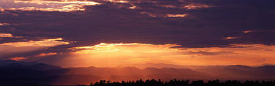 Sunset Over Rocky Mts From Daniels Park Poster by Panoramic Images