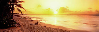 Sunset Over Sea, Sint Maarten Poster by Panoramic Images