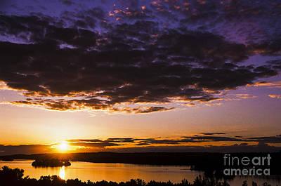 Sunset Over Shagawa Lake Poster by Thomas R Fletcher