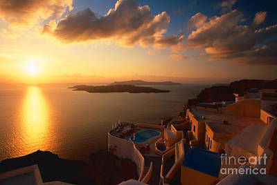 Sunset Over The Aegean Sea Poster